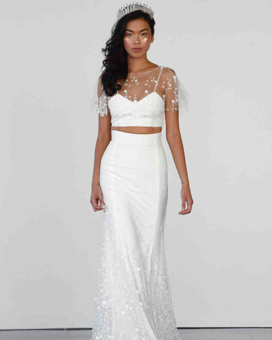 two piece wedding dresses pencil wedding dresses
