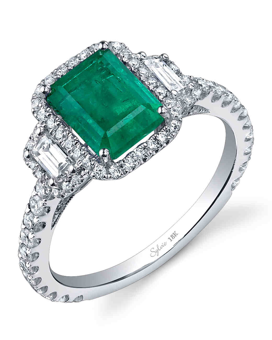 Fullsize Of Emerald Wedding Rings
