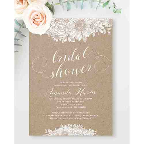 Medium Crop Of Cheap Bridal Shower Invitations