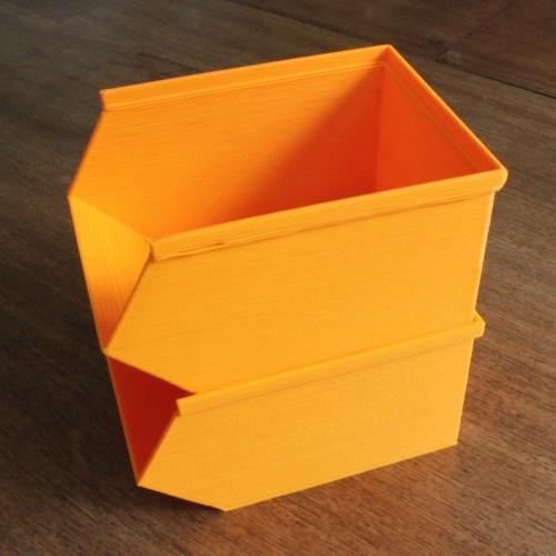 Medium Crop Of Stackable Storage Bins