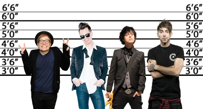 Here s How Tall Your Fave Male Musicians Really Are   PopBuzz pop punk heights