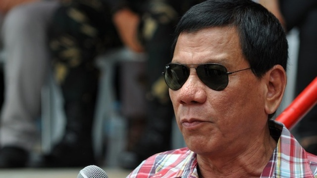 TARGET? Drug lords are allegedly linking arms to keep Davao City Mayor Rodrigo Duterte out of Malacañang. Rappler file photo