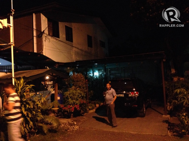 EXTERIOR. Davao City Mayor Rodrigo Duterte stands outside his house in the early hours of Wednesday, September 30, 2015. All photos by Pia Ranada/Rappler