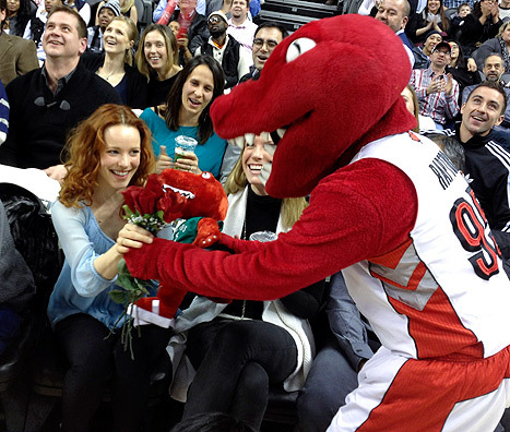 Rachel McAdams, Raptors Mascot