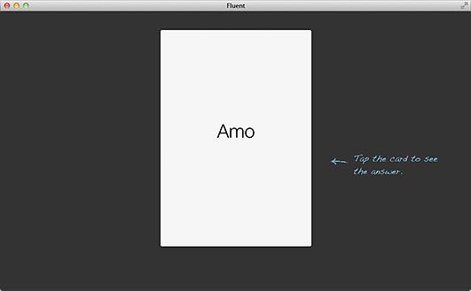A screenshot of the fluent web app