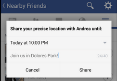 "Facebook's ""Nearby Friends"" app brings Facebook friends into the real world."