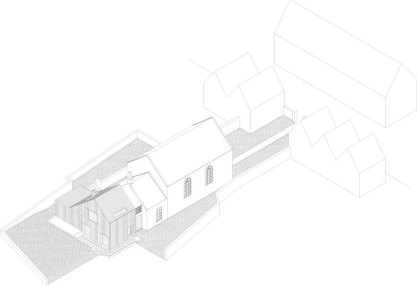 The Providence Chapel in Wiltshire by Jonathan Tuckey Design, Proposed Axonometric | Yellowtrace.