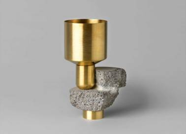 David Taylor, Considered Objects - concrete, brass, mirror | Yellowtrace