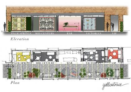 Gumtree Garden Pop-Up Bar | Yellowtrace Concept Design & Sketch Studies
