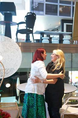 Patricia Urquiola with Dana Tomic Hughes, at Space Furniture Sydney   Yellowtrace