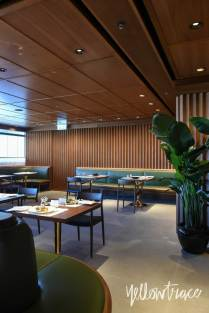 Cathay Pacific's The Pier First Class Lounge in Hong Kong by Ilse Crawford of Studioilse | Photo by Nick Hughes, Yellowtrace