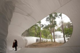 Loud Shadows Temporary Bubble Pavilion In Amsterdam by Plastique Fantastique | Yellowtrace