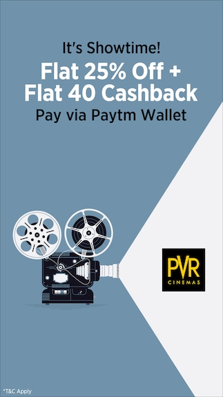 Get 25% off from Pvr limited and additional Rs.40 when you pay via Paytm Wallet