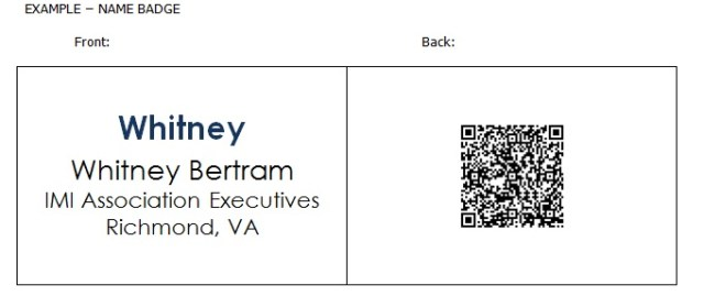 QR Code Example Name Badge