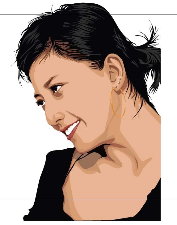 Gambar 15.28. Hasil akhir portrait tracing