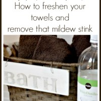How to Freshen Your Towels & Remove the Mildew Stink