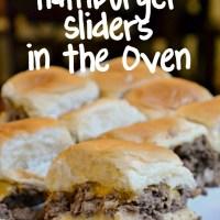 Homemade Hamburger Sliders in the Oven