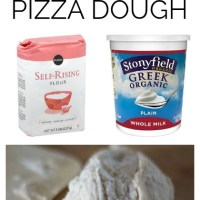 2 Ingredient Clean Pizza Dough