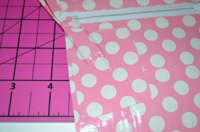Duct Tape, Wristlet, Tutorial, Pink, Polka Dots, DIY, Crafts, Make It Yourself