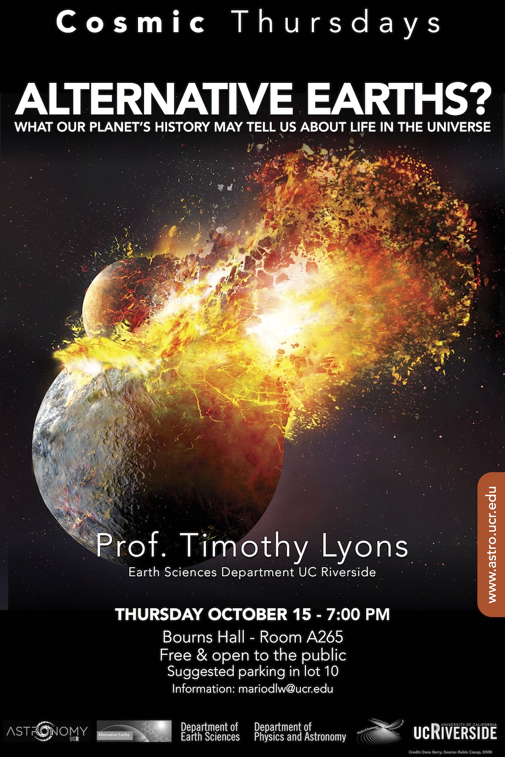 Cosmic Thursdays Public Talks Restarting