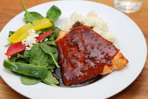 Hoisin Ginger Glazed Salmon