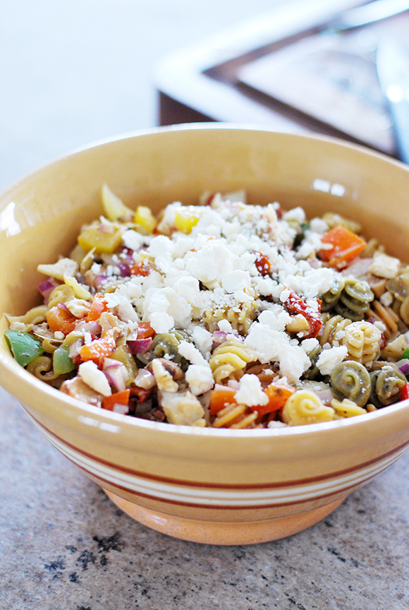 Sun-dried Tomato & Feta Pasta Salad | A Sunshiny Day