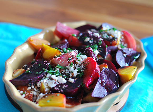 Beet Feta Salad with Balsamic Drizzle