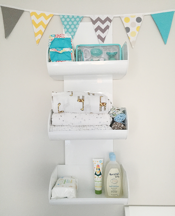 Nursery Changing Table Wall Storage