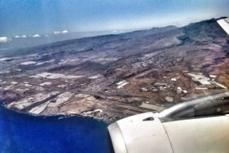Avión sobre Gran Canaria. Fotografía: ATCpress