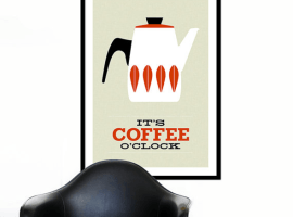 Cathrineholm-poster-print-It's-Coffee-O'clock-yumalum-etsy