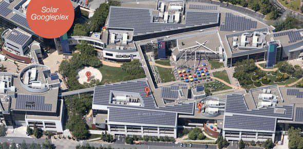 googleplex solar panels