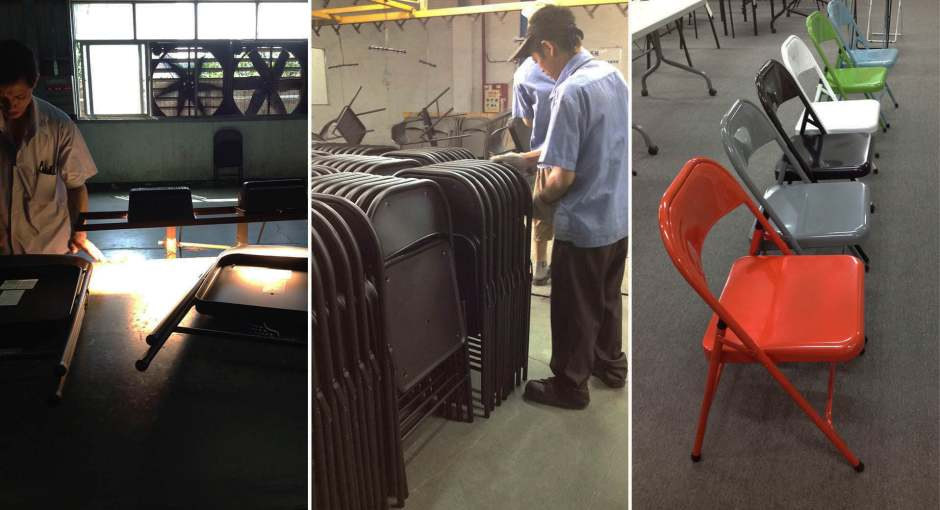 habitat macadam folding metal chair factory 003