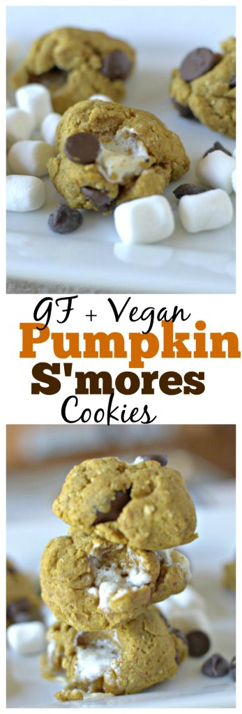 These gluten free and vegan Pumpkin S'mores Cookies make the perfect addition to your holiday cookie tray and will become your family's favorite!