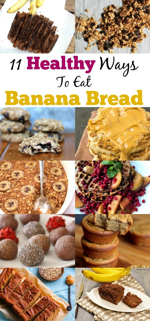 Do you love banana bread and wish you could try it other ways? Now you can with these unique and delicious 11 Healthy Banana Bread Recipes that range from english muffins to oatmeal to smoothies!