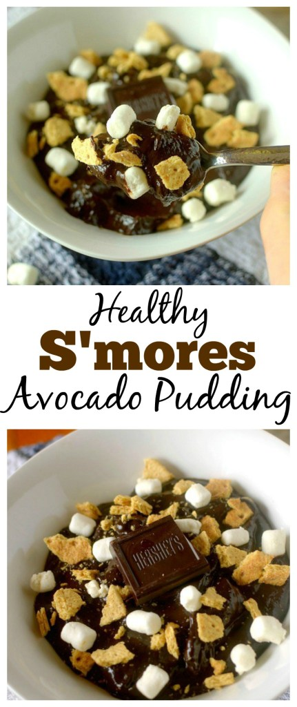 No Campfire? No problem! This S'mores Chocolate Avocado Pudding is a delicious and healthy way to get your S'mores fix without the hassle. It takes only 5 minutes to make and is made with real and whole food ingredients. Also vegan and gluten-free!