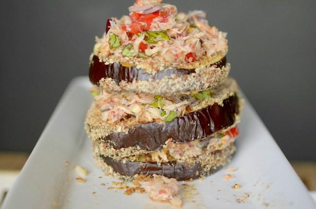 Crab Bruschetta Eggplant Toast 2
