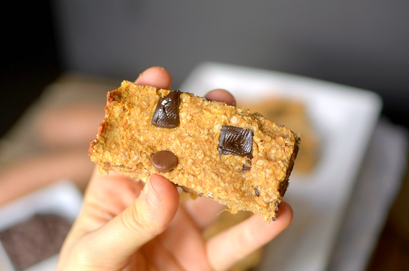 Sweet Potato Chocolate Chip Homemade Granola Bars are a healthy and delicious snack made easy with only 5 REAL ingredients! Also gluten-free and vegan!