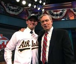 A's top pick Billy McKinney with some guy who doesn't know the way to San Jose