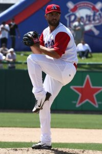 Stockton Ports Pitcher Josh Bowman (8 IP / 7 H / 1 ER / 0 BB / 6 K / Win)