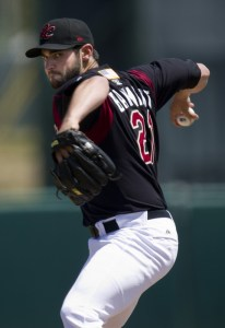 Sacramento River Cats Pitcher Travis Banwart (5 2/3 IP / 7 H / 2 ER / 1 BB / 7 K / Win)