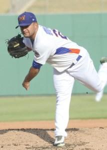 Sacramento River Cats Pitcher Carlos Hernandez (6 IP / 6 H / 2 ER / 1 BB / 3 K)