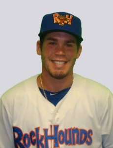 Midland RockHounds Catcher Beau Taylor (3 for 5 / 3 RBIs)