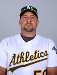 Arizona League A's pitching coach Ariel Prieto