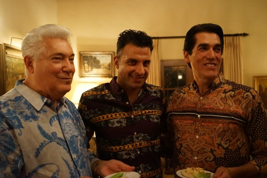 Carl, Dano and Martin at the Moroccan Feast. Their colorful shirts certainly contribute to the theme!