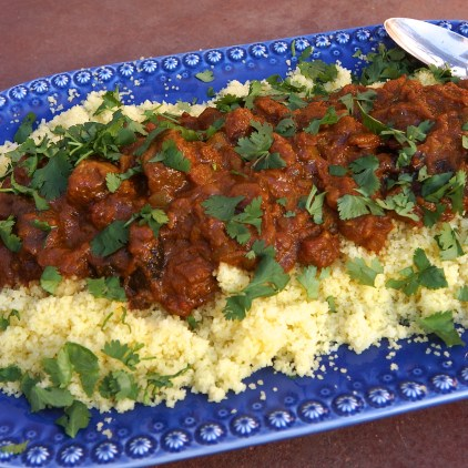 Lamb Tagine with Apricots & Prunes and Moroccan Couscous (Moroccan Feast)