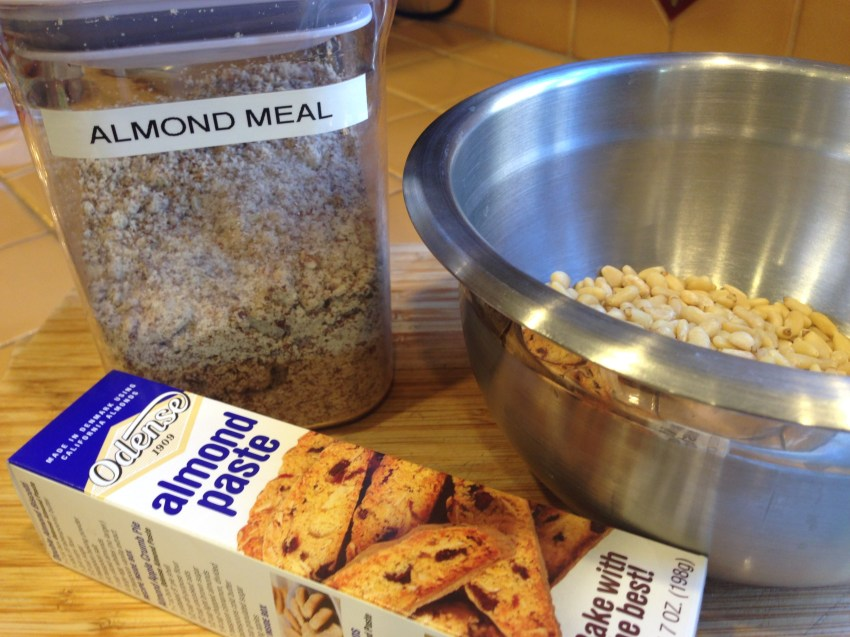 Slice almond paste into 3/4-inch slices and place in food processor. Pulse 3-4 times to break up paste.