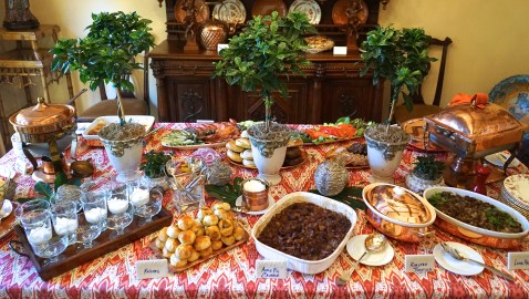 New Year's Day Brunch: Buffet Table