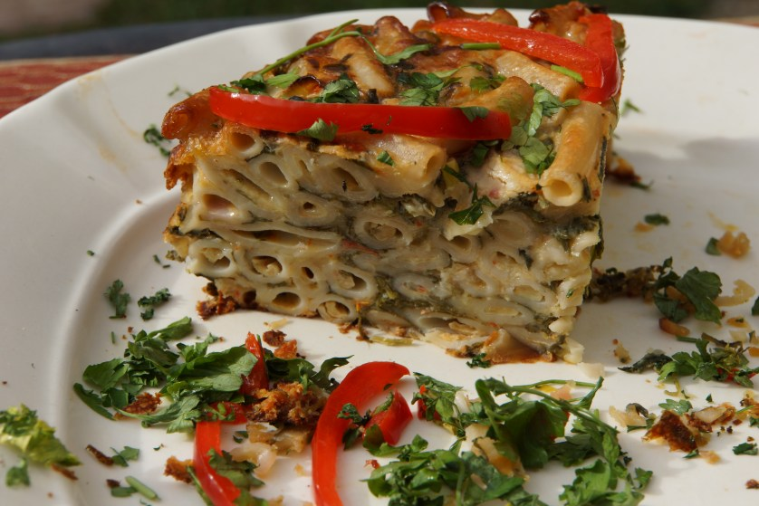 This Pasta, Chard and Fontina Torte is also great as a main course dish served with just a salad.