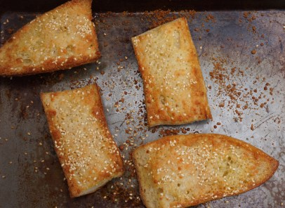 Bake in oven just until edges are slightly brown and Parmesan cheese is melted.