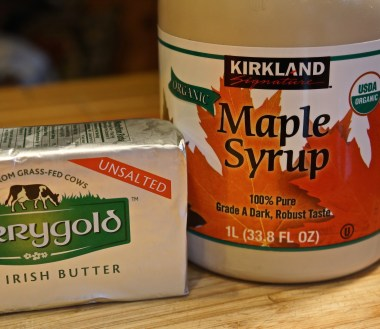 Yams, high quality maple syrup and sweet butter. That's all there is to it.
